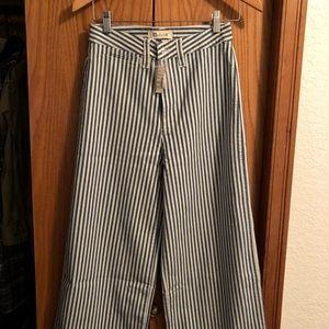 Madewell Emmett wide leg crop pants sz 25
